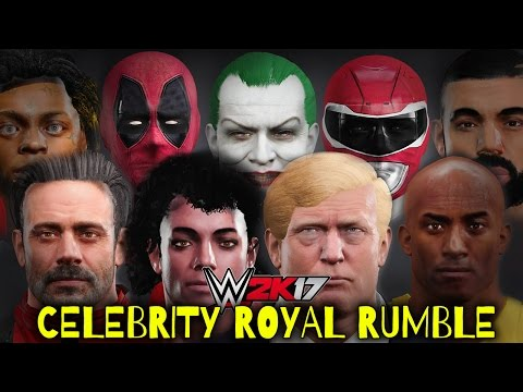 WWE 2K17 - 30 MAN CELEBRITY ROYAL RUMBLE!!!