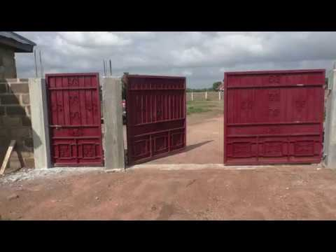building in ghana update on my 360m fencewall and security post