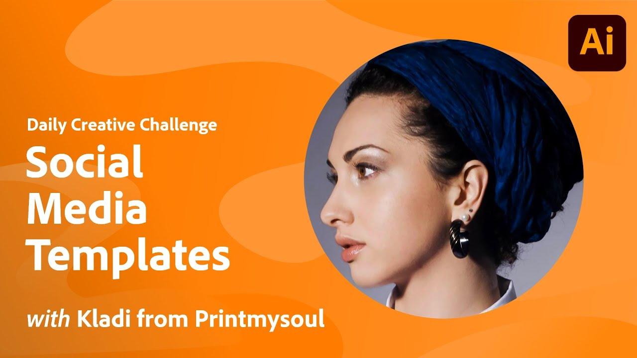 Illustrator Daily Creative Challenge - Social Media Templates
