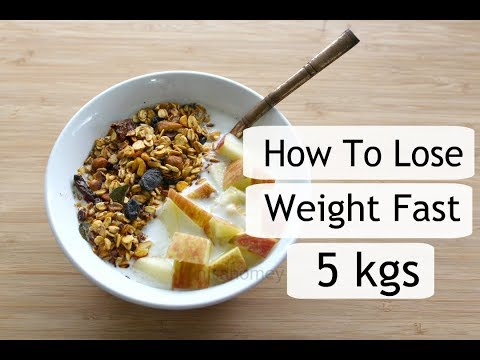 Spicy Homemade Granola Oats Recipe For Weight Loss - How To Lose Weight Fast - 5 kgs