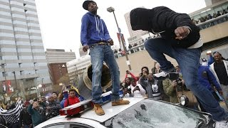 Freddy Gray Protests Erupt Into Baltimore Riots - Chaos In The Streets