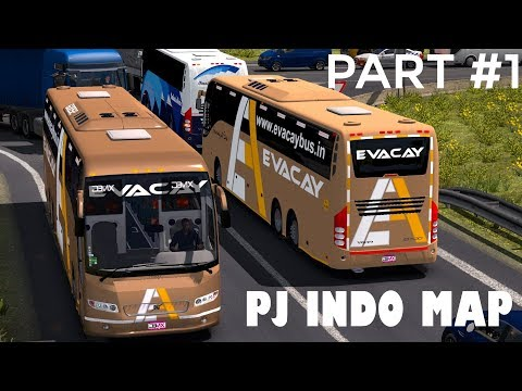 Evacay Bus - ETS 2 Indian Volvo Bus [PJ Indo Map Mod] Part #1