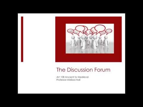 Discussion Forum Guidelines