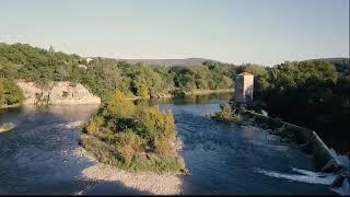 De Sampzon au pont d'arc. L'Ardèche vue du ciel