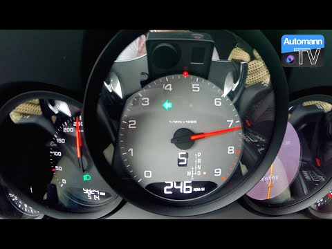 Porsche 991 Carrera S (400hp) - 0-250 km/h acceleration (60FPS)