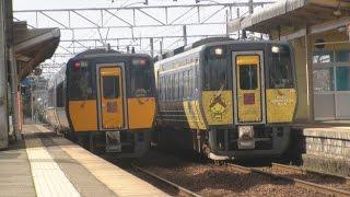 【時間付き】昼の荒島駅 列車まとめ(2017/2/24)