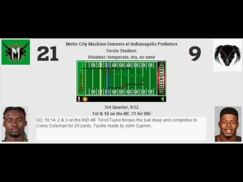 Week 10: Motor City Machine Gunners (4-5) @ Indianapolis Predators (2-7)