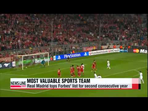 Real Madrid 'world's most valuable sports team'