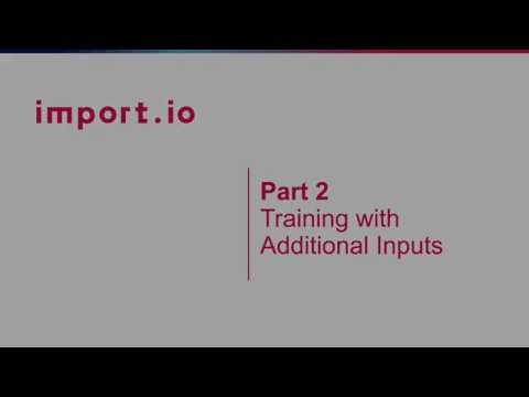 Part II Interactive Extractors: Training with Additional Inputs