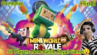 Mini World Royale | Gameplay | Review | Hindi | 50 Player Battle Royal Android Game | screenshot 4