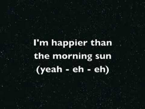 Happier than the Morning Sun by Jon Gibson (with lyrics)