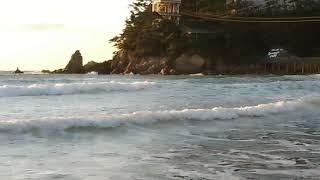 만리포 서핑 파도