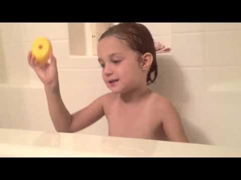 Bath time with Caroline