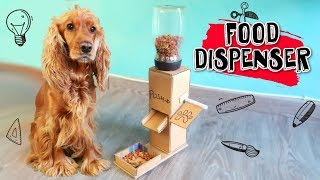 DIY Puppy Dog Food Dispenser from Cardboard at Home  - Puppy Crafts