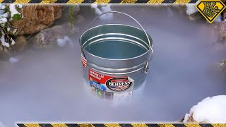 What Does Dry Ice Do In Frozen Pond Water?