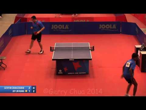 Sathiyan Gnanasekaran vs Jeff Lin Huang  Men's Singles 16's