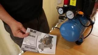 wolf little cub air compressor 6 litre 7cfm 1 5hp review