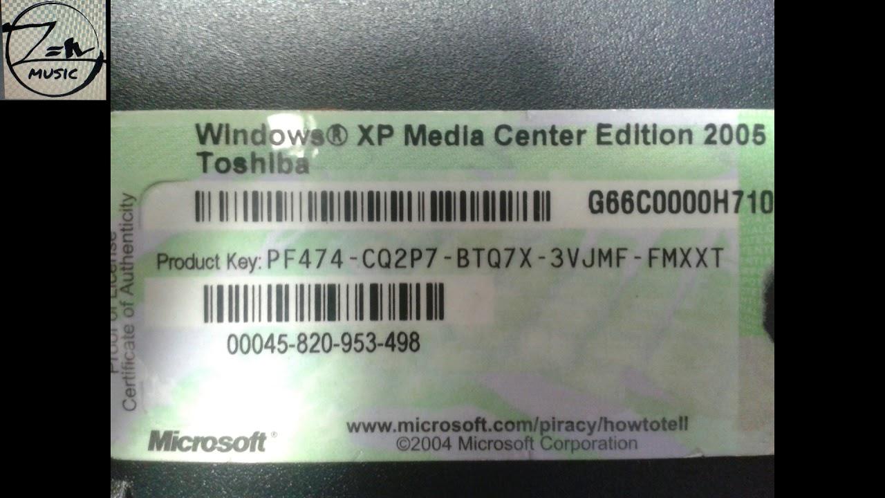 windows xp media center key