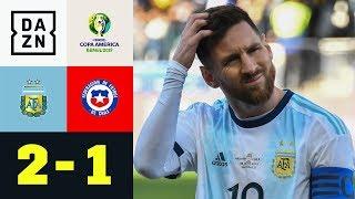 Lionel Messi sieht rot, Albiceleste holt Platz drei: Argentinien - Chile 2:1 | Copa America | DAZN