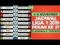 Jadwal Siaran Langsung Liga 1 2019 Pekan 27 Dan Klasemen Terbaru (4-8 November)