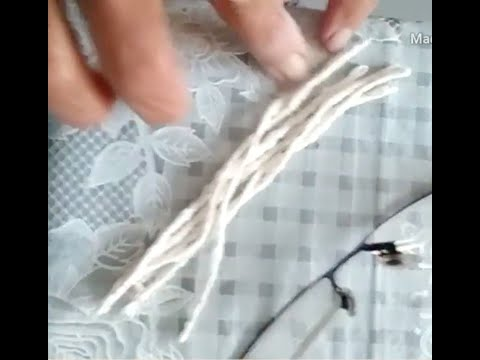 Traditional Way Of Making Wick/ Vati For Oil Lamp