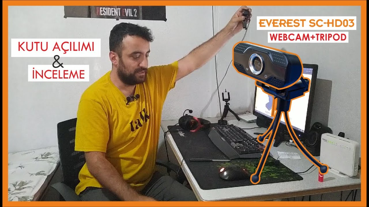 Everest SC-HD03 Webcam - Kutu Açılımı ve İnceleme