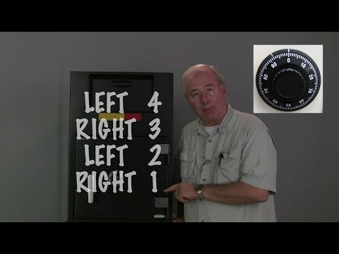 How To Dial Open A Combination Safe Lock Video