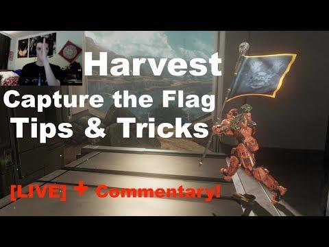 Harvest CTF Game vs Good Opponents! - Halo 4 Genesis Tips & Tricks [LIVE]