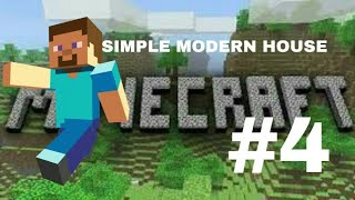 How to make a simple modern house on MCPE on android