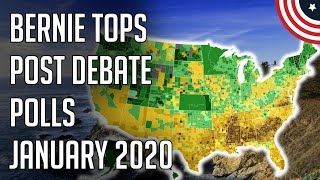 Bernie Leading Post Debate Polls - 2 New 2020 Democratic Primary Polls - January 2020 Follow me on Twitter: twitter.com/PoliticFor ecast  Bernie Leading Post Debate Polls - 2 New 2020 Democratic Primary Polls - January 2020 - Democratic ..., From YouTubeVideos