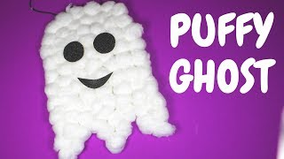 Puffy Ghost Halloween Craft | Halloween Crafts for Kids These Puffy...