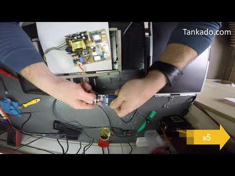 LCD Monitör Tamiri - Trafo değişimi ve OLP iptali