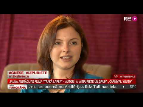 "Jauna animācijas filma ""Trakā lapsa""  - autori  Agnese Aizpuriete un grupa ""Carnival Youth"""