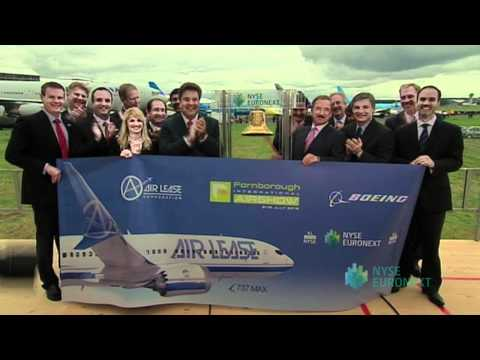 Air Lease Corporation & The Boeing Company Ring Opening Bell from Farnborough International Airshow