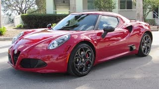 2015 Alfa Romeo 4C Launch Edition Start Up, Exhaust, and In Depth Review