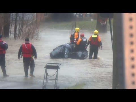 Rain, Snow Melt Flood North Indiana, Ohio River