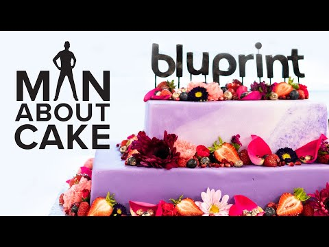 Bluprint Cake for Joshua's Co-workers | Man About Cake