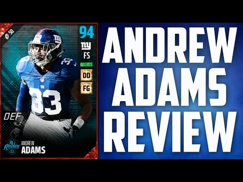 How Good is 93 Overall Andrew Adams? - MUT 17 Card Review