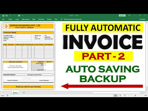 INVOICE PART 2 - How To Automatically Save Invoice Entries F