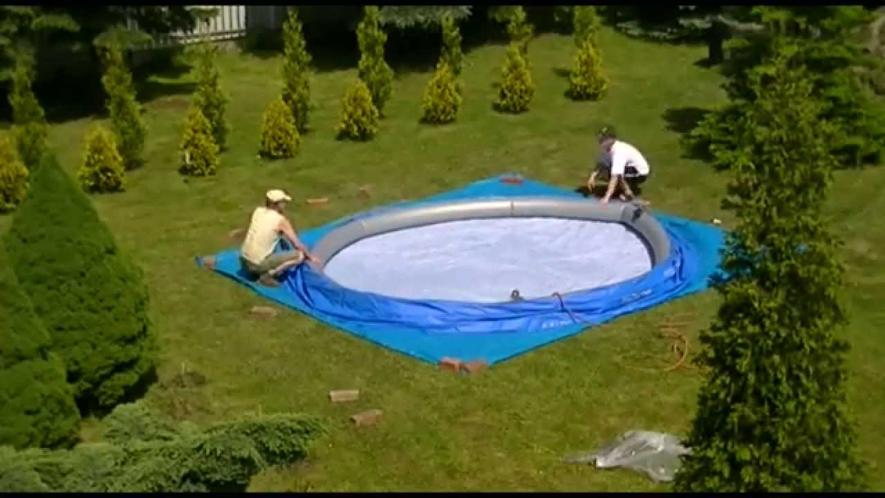 Bestway pool 457x122 installation step by step youtube for Pool stahlwand eckig