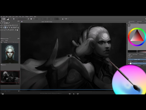 Diana League of Legends : Speed Painting, Krita