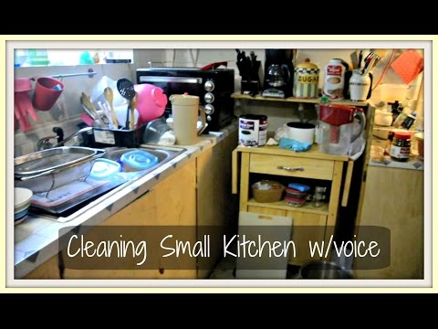 Cleaning Small Kitchen w/voice | Speed Cleaning | TheCramers