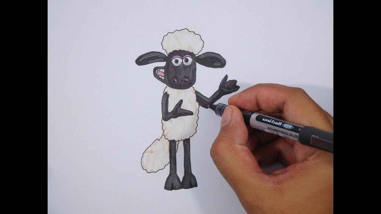 How To Draw Shaun The Sheep Cara Menggambar Shaun The Sheep
