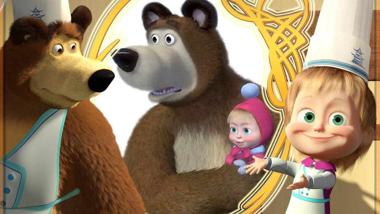Masha e orso coloriamo insieme disegni dal cartone