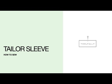 Tailor sleeve, the sewing.