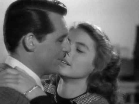 "Alfred Hitchcock's ""Notorious"" (1946) long take concentrating on passionate kissing"