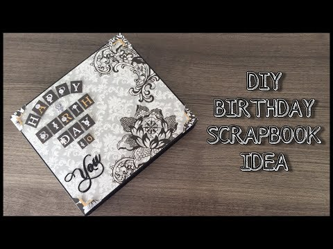 Diy Scrapbook Idea | Diy Birthday Scrapbook | Diy Gift Idea | Diy Handmade Scrapbook