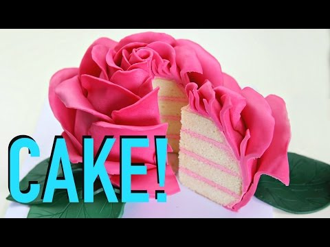 GIANT Rose FLOWER Cake!