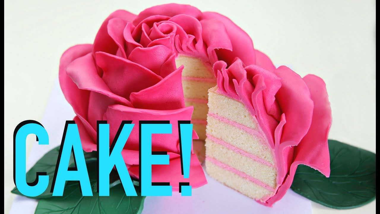 GIANT Rose FLOWER Cake! - YouTube