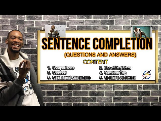 Sentence Completion | English Questions And Answers